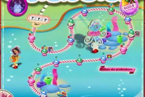 Carte de Candy Crush Saga, nouvel univers